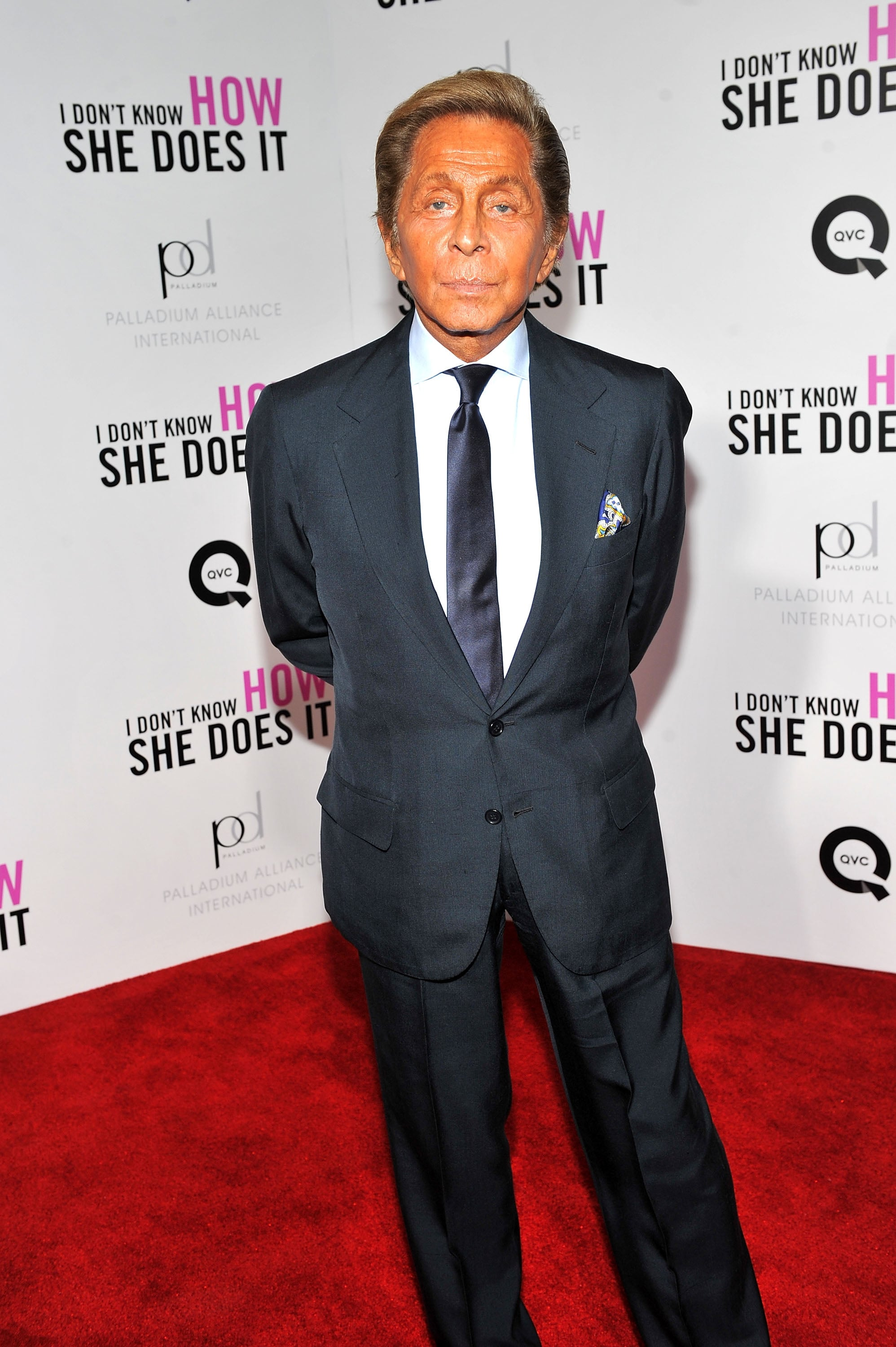 Designer Valentino stepped out to support SJP.