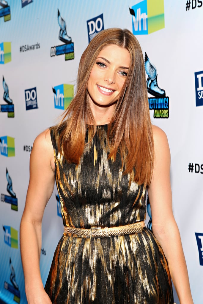 Ashley Greene posed on the blue carpet of the Do Something Awards.