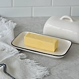 Ceramic Black Rim Butter Dish