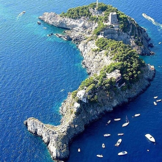 Dolphin Island Off the Amalfi Coast in Italy