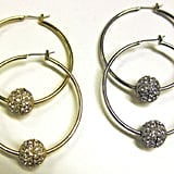 Crystal Ball Hoops