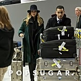 Jessica Alba got some help with her luggage.