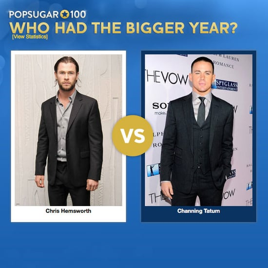 Channing Tatum and Chris Hemsworth Face Off in PopSugar 100