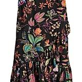 H&M Calf-Length Flounced Skirt