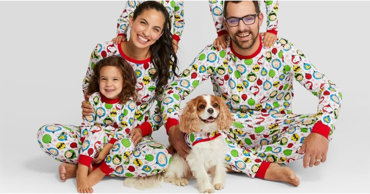 Target Is Selling Matching Holiday Pajamas For the Entire Family — Sorry, Dog, Even You're Included