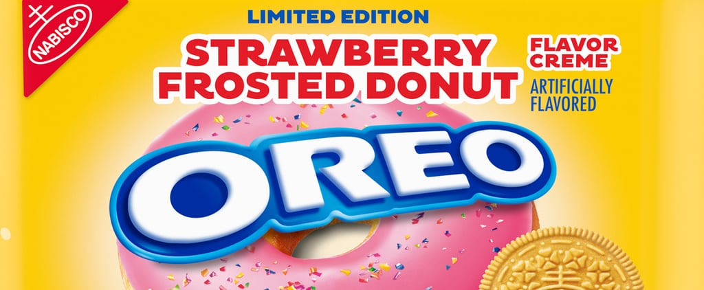 Oreo's Strawberry-Frosted Donut Oreos With Glittery Cream