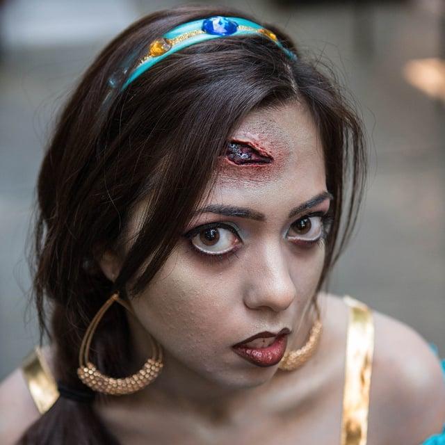 Zombie Princess Jasmine Halloween Makeup | POPSUGAR Beauty
