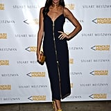 Joan Smalls Wearing Yellow Stuart Weitzman Heels