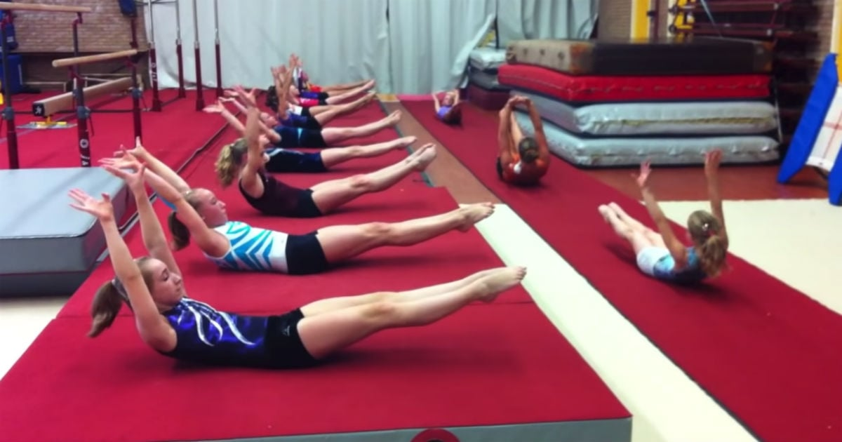 """My Abs Are Quaking Just Watching These Gymnasts Do a Core Workout Set to Beyoncé's """"Run the World"""""""