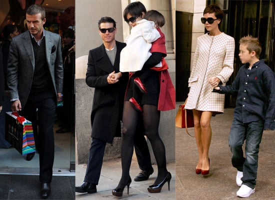 01/12/08 David & Victoria Beckhams and Katie Holmes and Tom Cruise