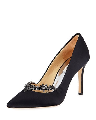 Badgley Mischka Venetia Embellished Evening Pumps