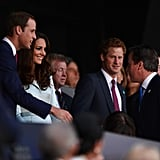 Will, Kate, and Harry stuck close.