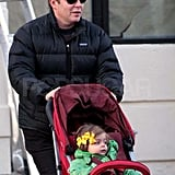 Matthew Broderick with Tabitha in NYC.
