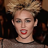 For the Met Gala in NYC back in May, Miley's tongue went all punk rock on us.