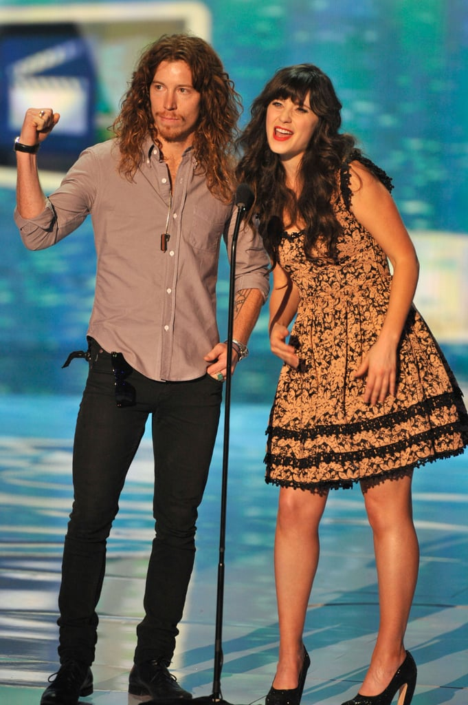 In 2011, Zooey Deschanel took the stage with Shaun White to present an award.
