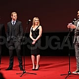 RDJ took to the microphone in Moscow.
