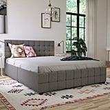 CosmoLiving by Cosmopolitan Elizabeth Tufted Upholstered Storage Platform Bed