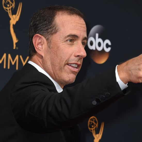 Jerry Seinfeld and Giuliana Rancic at the 2016 Emmys