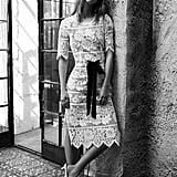 Viviana Lace Midi Dress ($252)