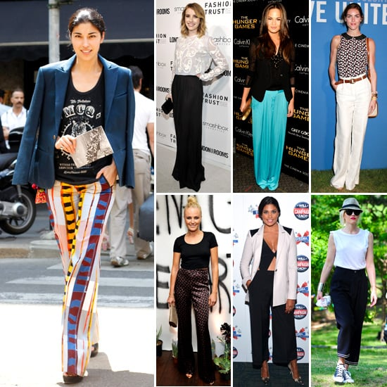 Celebrities wear the wide leg trouser trend: Shop Our Editors ...