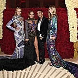 Pictured: Natasha Poly, Jennifer Lopez, Olivier Rousteing, and Julia Stegner