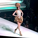 Anna Cleveland on the Jean Paul Gaultier Runway