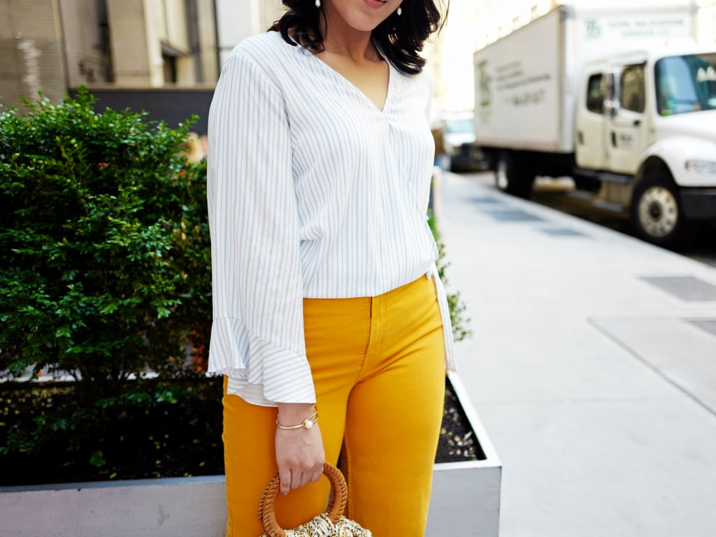 Show Off Your Curves In: A Voluminous Top And Fitted Pants