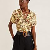 Mango Tropical print blouse