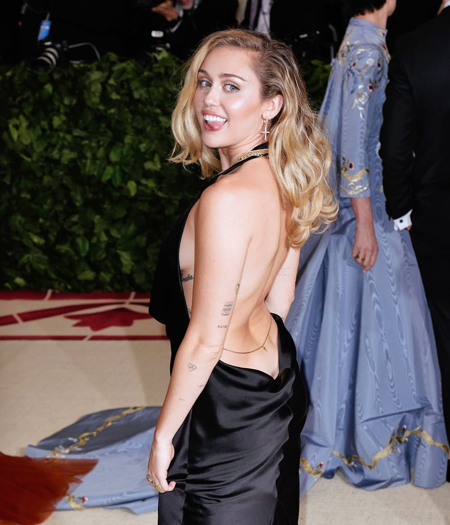 Miley Cyrus Wearing Black Dress 2018 Met Gala | POPSUGAR Fashion