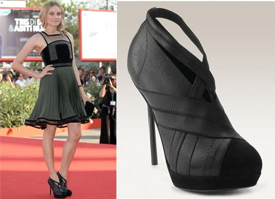 Diane Kruger at Venice Film Festival 2009 in Christopher Kane Dress and YSL Heels