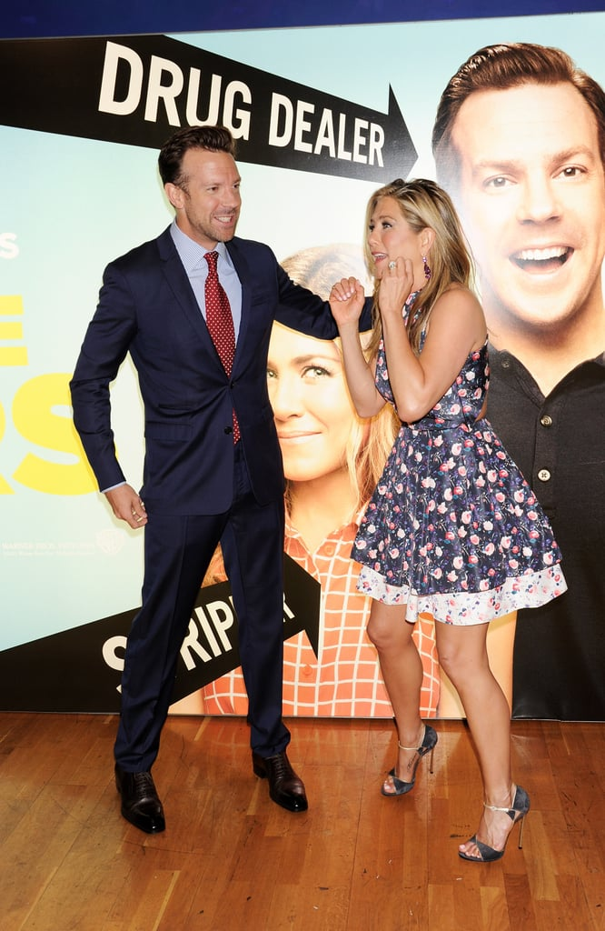 Jason Sudeikis and Jennifer Aniston palled around at the We're the Millers premiere in London.