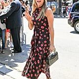Jen's Pink Velvet Sandals