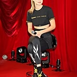 Gigi Hadid Yellow and Black Reebok Sneakers 2018