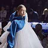 Gigi Hadid Walking in the Off-White Show