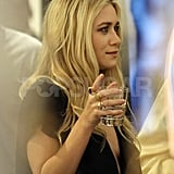 Ashley Olsen socialized during her launch party for The Row.