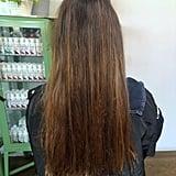 Before Hair Gloss Treatment