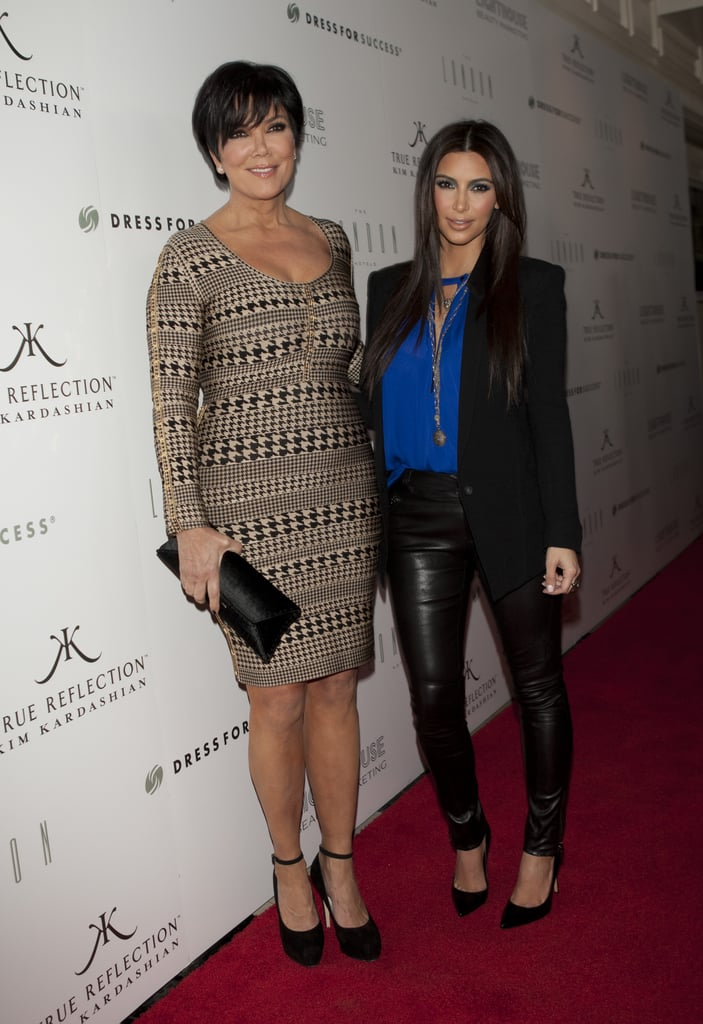 Kim Kardashian and her mom, Kris Jenner, at the True Reflection fragrance launch.