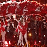 "Jennifer Lopez took the stage for a second time to perform ""Lets Get Loud"" in Los Angeles."