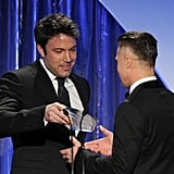 Ben Affleck handed Brad Pitt his Producers Guild Award.