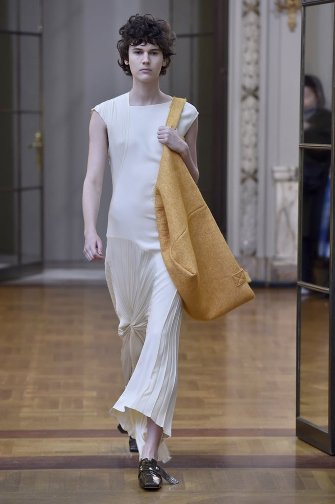 Since Meghan wore a Victoria Beckham design during her engagement photo shoot, we can picture her choosing this dress for her rehearsal dinner.