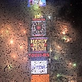 Fireworks lit up Times Square in NYC as the ball dropped on New Year's Eve.