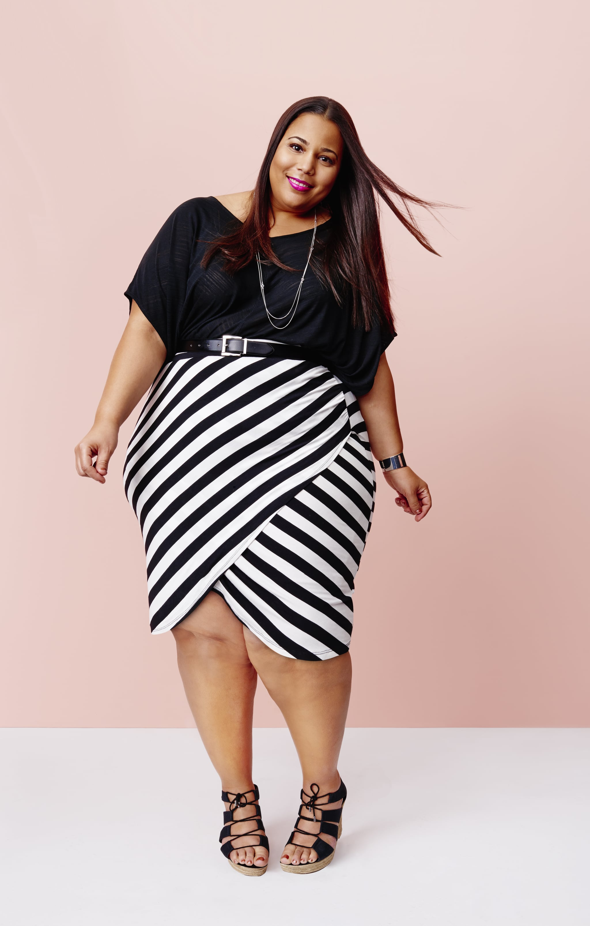 Black and white striped skirt plus size – Modern skirts blog for you