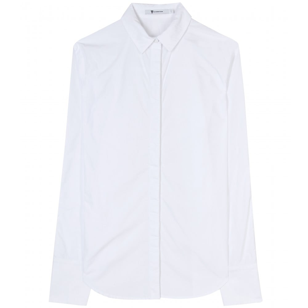 A classic collared button-down with Savile Row sophistication, this piece will be a staple of your schooltime wardrobe. T by Alexander Wang Cotton Poplin and Piqué Button-Down Shirt ($220)