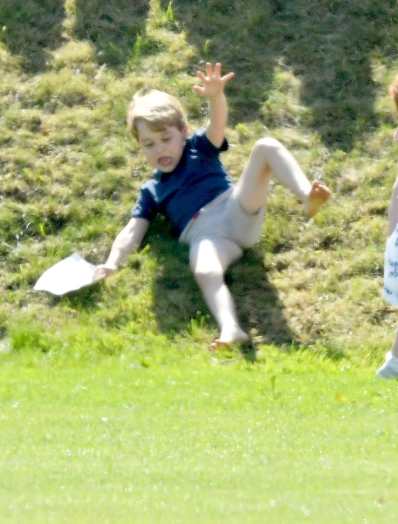 Prince George Pushed by Savannah Phillips at Polo Match 2018