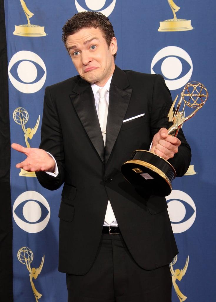 Justin Timberlake at the 2009 Emmy Awards