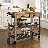Crosley Furniture Roots Rack Industrial Rolling Kitchen Cart