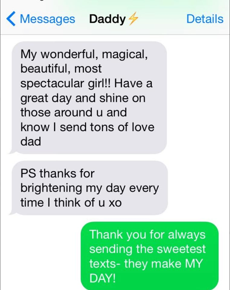 Dad Texting Daughter Every Morning After Her Breakup