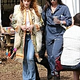 Florence Welch and Daisy Lowe at Glastonbury 2015
