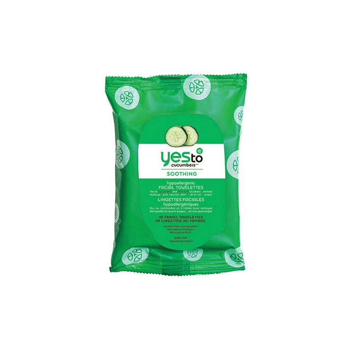 Yes To Cucumbers On-The-Go Hypoallergenic Facial Towelettes, $2.79