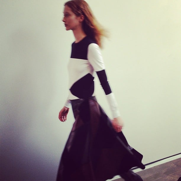 Black and white colorblocking at Derek Lam.